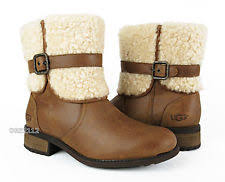 s ugg australia brown leather boots ugg australia zip medium width b m ankle boots for ebay