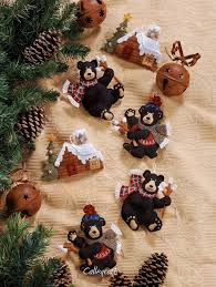 black bonfire bucilla felt ornament kit 85460 fth studio