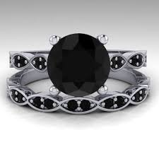black diamond bridal set shop black diamond bridal set on wanelo
