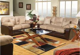 cindy crawford home calabasas 4 pc livingroom living room hollis beige 7 pc living room set rooms to go furniture terrific two tone look sofa