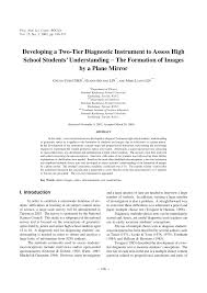 developing a two tier diagnostic instrument to assess high