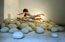 oversized pebble pillows