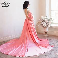 backless pearls pregnancy photography dress long train