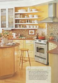 yellow kitchen backsplash ideas bright yellow kitchen brown tile backsplash maybe yellow walls