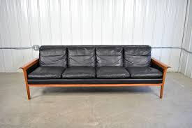 Teak Mid Century Modern Furniture by Gorgeous Century Leather Sofa Kardiel Kardiel Monroe Mid Century