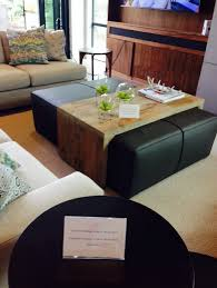 Using An Ottoman As A Coffee Table Ottoman Coffee Table With Sliding Wood Top Black Butte