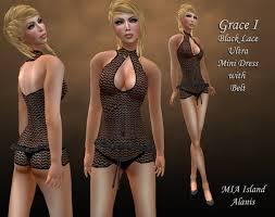 second life marketplace grace i black lace dress are ultra mini