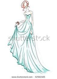 gown sketch vector stock vector 52490887 shutterstock