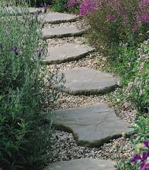 create stepping stone paths throughout the garden woodland