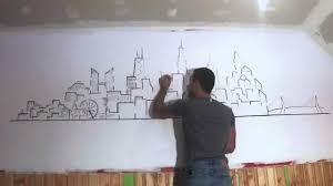 Sharpie Wall Mural Speed Drawing Sharpie Skyline Youtube