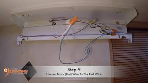 How To Install Under Cabinet Lighting by Undercabinet Ballast Bypass For Fluorescent Replacement Youtube