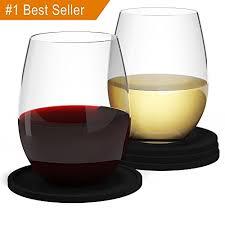 barvivo camping wine glasses w bonus coasters set of 4