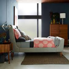 Upholstered Sleigh Bed Upholstered Sleigh Bed West Elm Uk