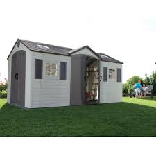 Lifetime Products Gable Storage Shed 6402 by Lifetime 15 Ft X 8 Ft Outdoor Storage Shed Blue Carrot Com