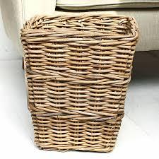 waste paper baskets willow waste paper bin by marquis u0026 dawe notonthehighstreet com