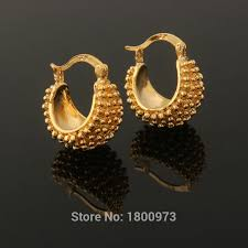 beautiful gold earrings new vintage gold color beautiful flower hoop earrings fashion