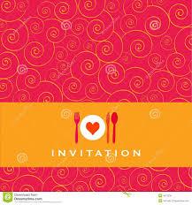 Dinner Invitation Dinner Invitation Royalty Free Stock Image Image 4973236