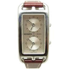 hermes cape cod bizone stainless steel nantucket watch at 1stdibs