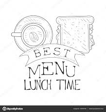 best cafe lunch menu promo sign in sketch style with sandwich and