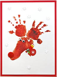handprint reindeer christmas card crafts and ideas