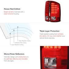 2008 dodge ram tail light bulb size rosso red led tail lights vipmotoz