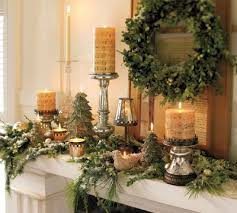 Christmas Decoration Ideas Fireplace Decorating Fireplace Mantle Greens U0026 Candles Christmas Pizzazz