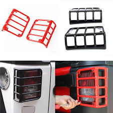 Jeep Jk Tail Light Covers For Jeep Wrangler Hood Tail Light Cover Black Red Metal Tail Light