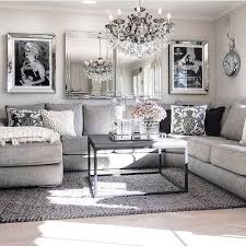 Black Sofa Interior Design by Living Room Decor Ideas Glamorous Chic In Grey And Pink Color