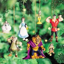 disney s and the beast storybook ornament set