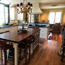 longleaf lumber reclaimed kitchen with walnut countertop and oak