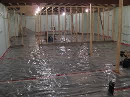 Water Under Bathroom Floor Ingenious Water Barrier For Basement Floor Flooring Tiles With A