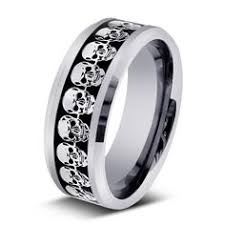 skull wedding rings bespoke skull wedding ring custom made in solid silver with