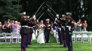 wedding arches meaning the arch of swords usmc wedding ceremony