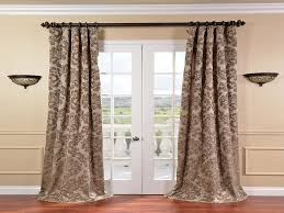 home design window treatment ideas for french doors backyard