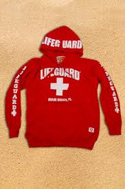 lifeguard apparel est 1952 swimming accessories sweatshirts