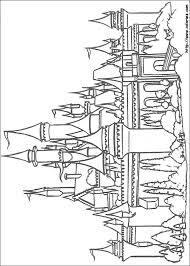 COLORIAGE  Coloriage du château