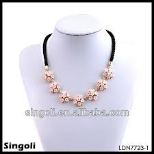 flower necklace designs images 2014 chic pink printed flower indian diamond necklace design jpg