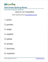 third grade spelling words k5 learning