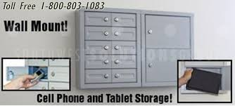 Electronics Storage Cabinet Cell Phone Lockers With Digital Locks Storing Electronics Wallets