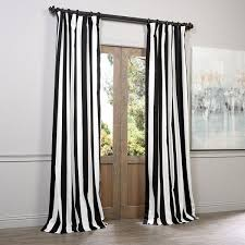 Black White Gray Curtains Living Room Ealing Black And Striped Curtains White Target