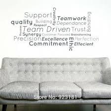 stickers bureau l équipe de soutien bureau travail sticker maison décoration peint