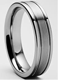 mens rings sale images 5mm mens ladies tungsten carbide ring with brushed center jpg&a