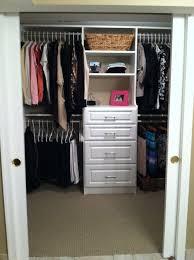 Cloth Closet Doors Small Built In Closet With Sliding Doors Roselawnlutheran