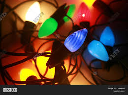 red and white bulb christmas lights light retro vintage style holiday image photo bigstock