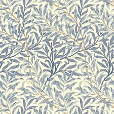 wallpaper above the white beadboard william morris u0027willow boughs