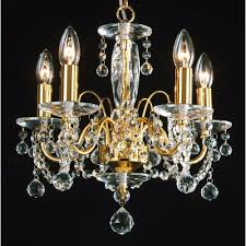 Chandelier Lights Uk by Fantastic Lighting Figaro 400 5 Gold Plated With Crystal Ball