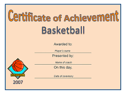 sport themed certificate of achievement template free sample