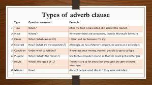 adverb clauses my english blog
