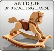 antique 1890 rocking horse wood toy plan set project ideas