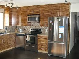 Bamboo Cabinets Kitchen Bamboo Slab Kitchen Cabinets Deliver Pics Of Style And